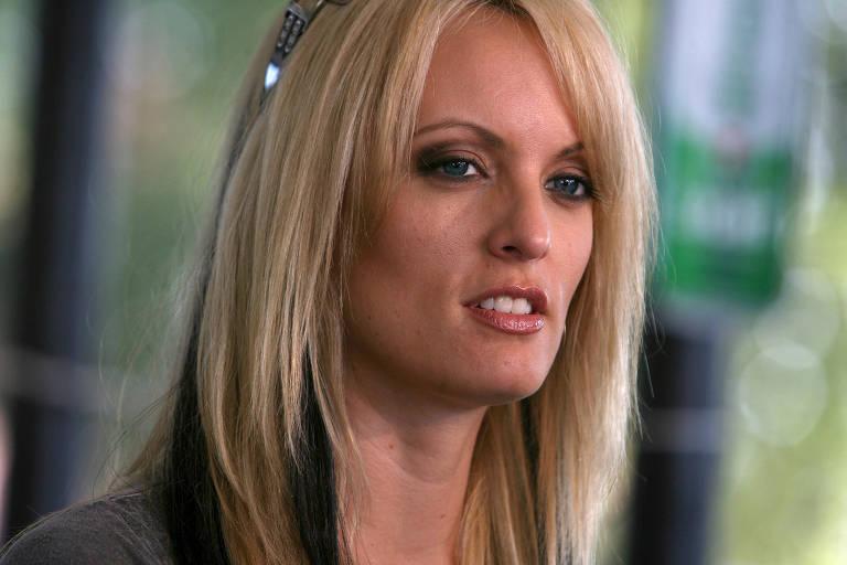 A atriz pornô Stormy Daniels, cujo nome real é Stephanie Clifford
