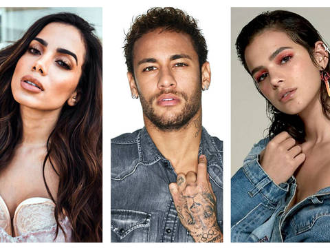 Anitta, Neymar e Bruna Marquezine - Montagem DIREITOS RESERVADOS. NÃO PUBLICAR SEM AUTORIZAÇÃO DO DETENTOR DOS DIREITOS AUTORAIS E DE IMAGEM