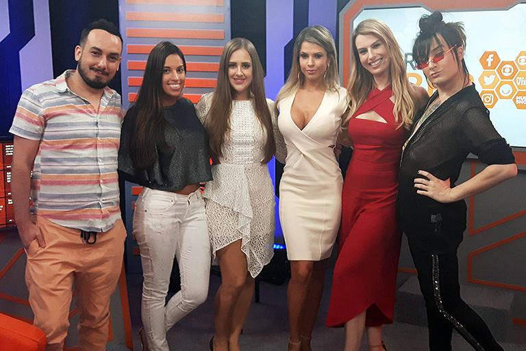 Patrícia na Mesa-Redonda BBB com Fernanda Keulla, Tatá Dias, Cacau Colucci, Serginho e Didi Effe