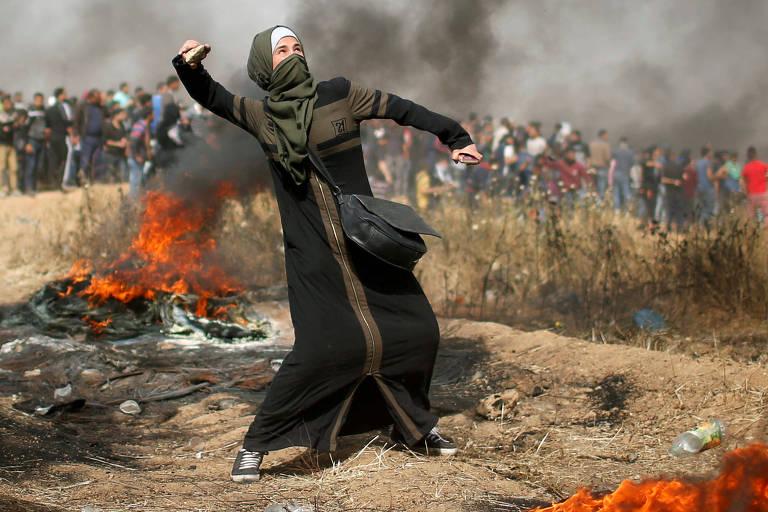Protesto em Gaza tem um palestino morto e mais de 200 feridos