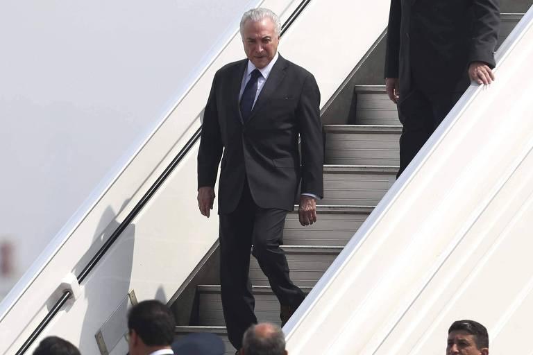 Presidente Michel Temer chega a Lima para participar da Cúpula das Américas