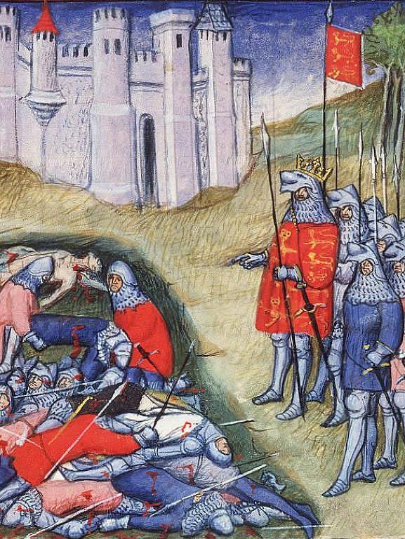 Ilustração sobre Eduardo 3°, rei da Inglaterra