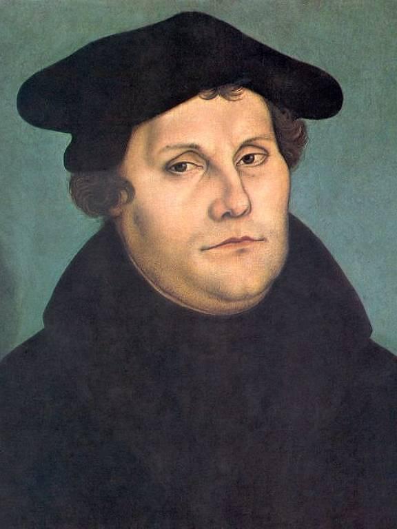 Pintura de retrato de Martinho Lutero