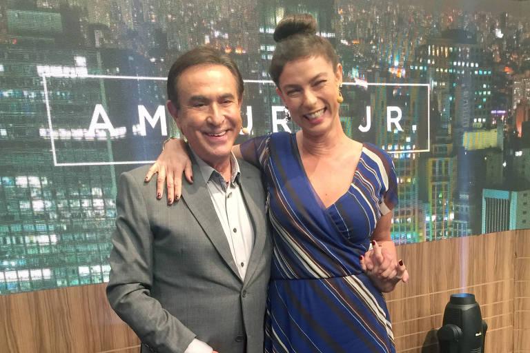 Maria Paula em entrevista a Amaury Jr.