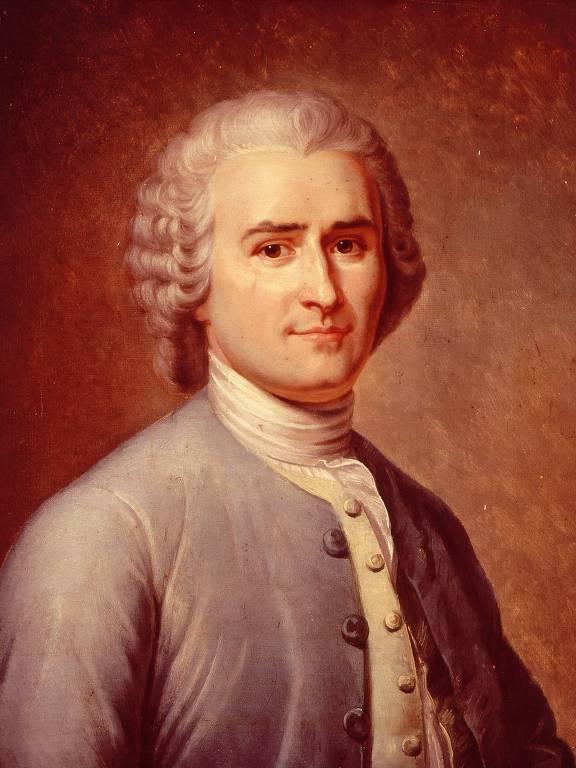 Retrato do filósofo e escritor Jean-Jacques Rousseau