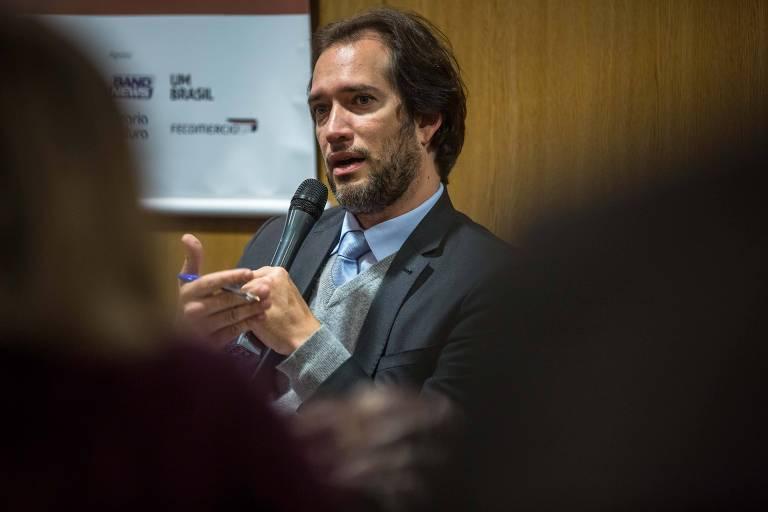 O advogado Pierpaolo Bottini, em debate sobre a Lava Jato, em agosto de 2017