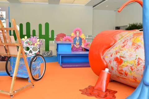 Frida Kahlo é tema de espaço para crianças no MorumbiShopping