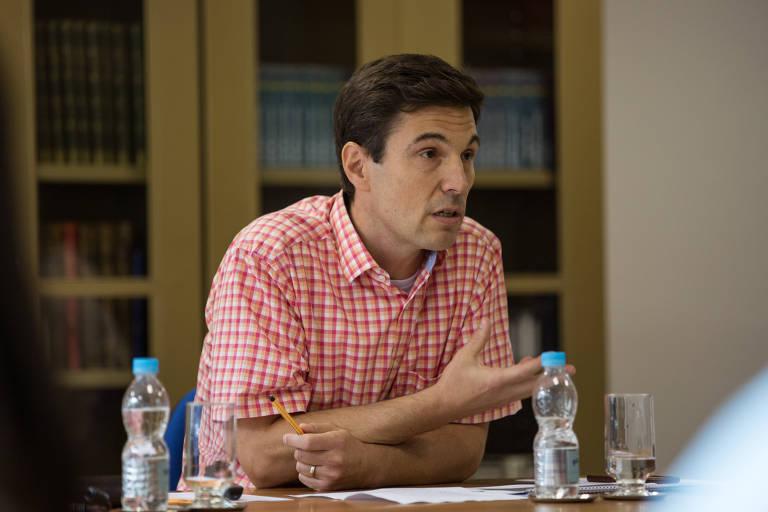 Hugo Aguilaniu, presidente do Instituto Serrapilheira, durante o lançamento da entidade, em março de 2017
