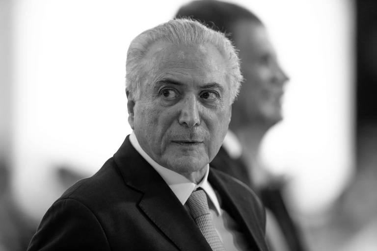 O presidente da República, Michel Temer, em cerimônia de promoção de oficiais no Palácio do Planalto, em Brasília
