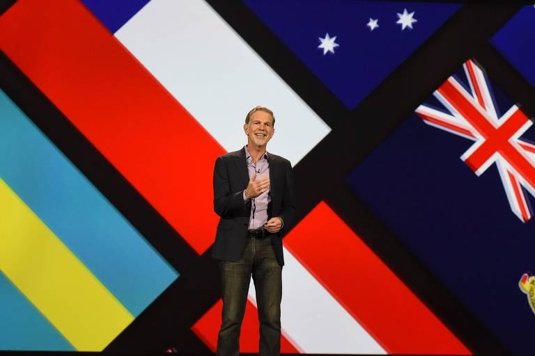 O CEO e co-fundador da Netflix, Reed Hastings, em 2016