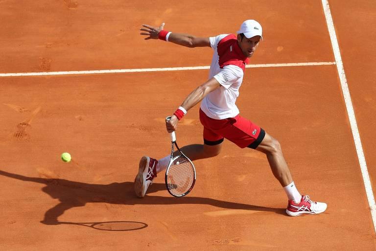 Tenista sérvio Novak Djokovic vence na estreia do Masters 1.000 de Monte Carlo