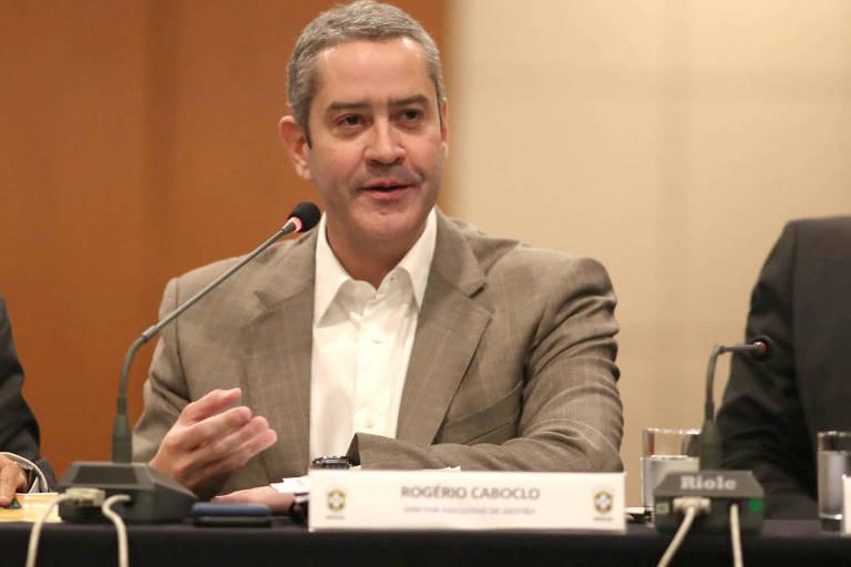 O diretor executivo de gestão da CBF,  Rogério Caboclo