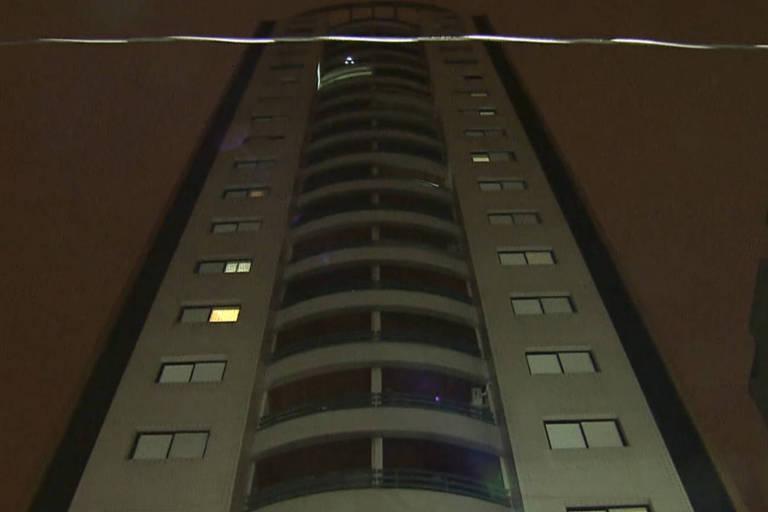 Fachada do prédio em que morava contador, na região de Pinheiros, zona oeste de São Paulo