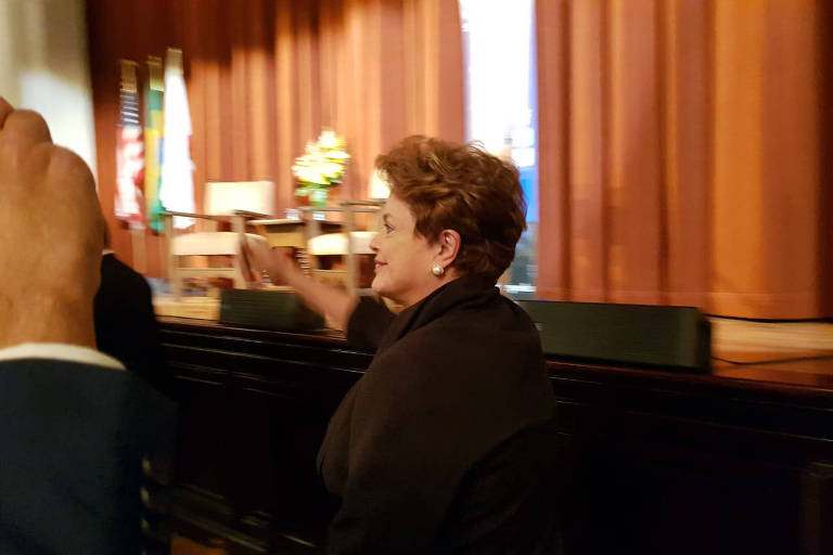 Dilma Rousseff na Universidade Berkeley, na Califórnia