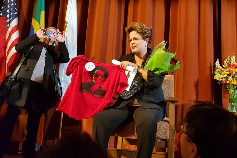 Dilma Rousseff em Berkeley, na Califórnia