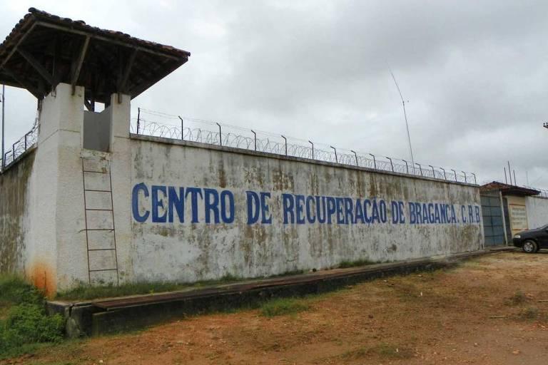 Muro do Centro de Recuperação Regional de Bragança, no Pará