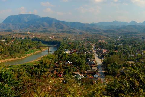 Vista de Luang Prabang, no Laos