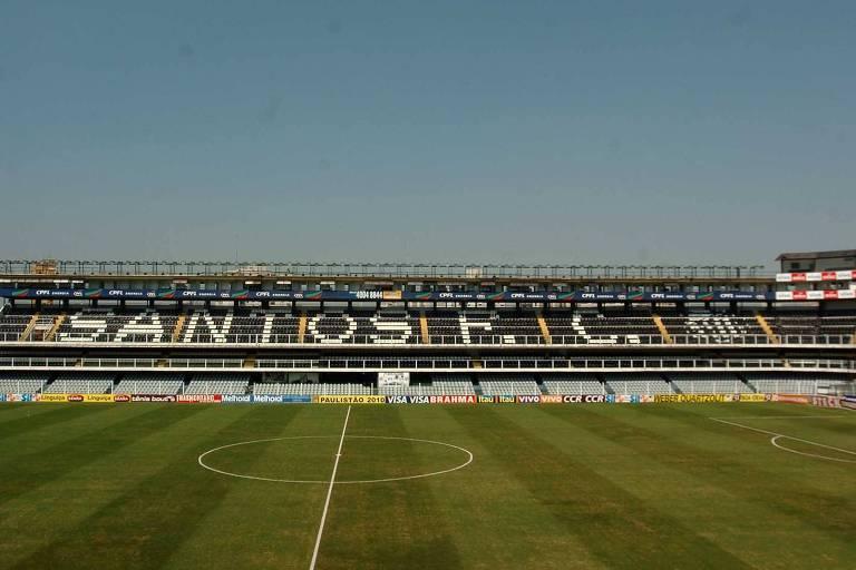 Arquibancada da Vila Belmiro, estádio do Santos