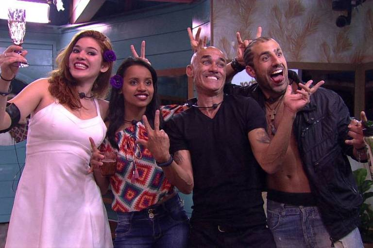 Ana Clara (e), Gleici, Ayrton e Kaysar são os finalistas do BBB 18