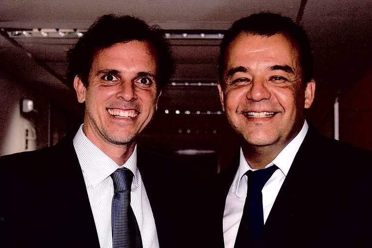 Sérgio Cabral, ao lado do empresário Marco Antônio de Luca, que teria pago propina ao ex-governador