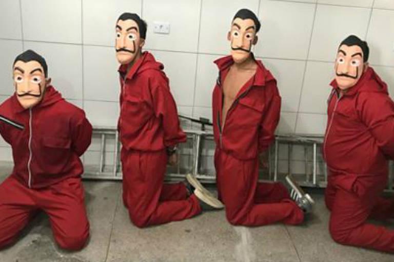 Youtuber e amigos invadem prisão em Pernambuco com fantasia de 'La Casa de Papel'