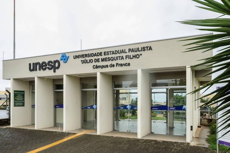 Fachada da Unesp (Universidade Estadual Paulista), em Franca