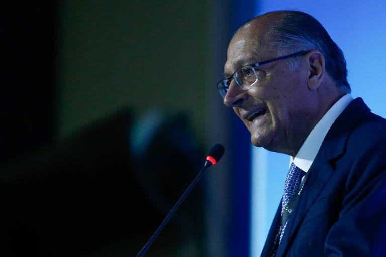 O ex-governador de SP Geraldo Alckmin participa de seminário no Fórum Mundial da Água, em Brasília