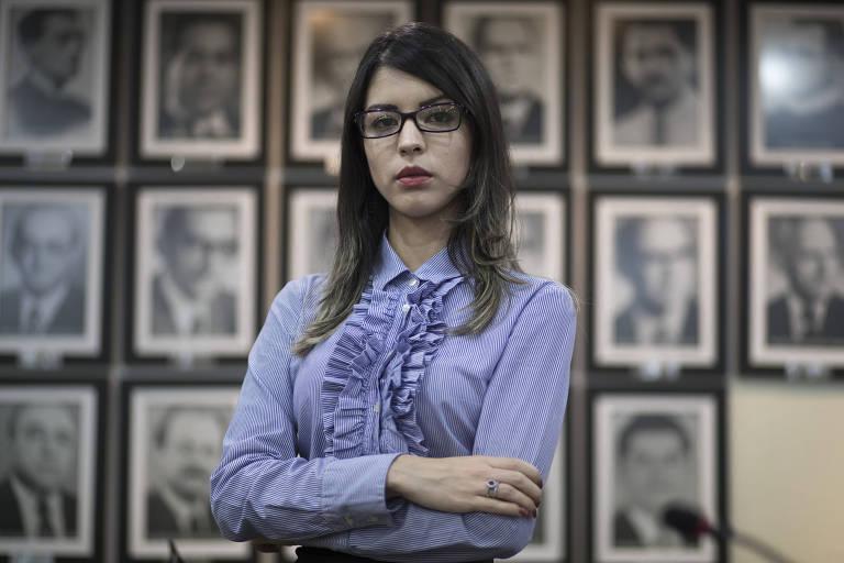 A advogada Sabrina Veras, 26, que foi ofendida por juiz de vara de família em Fortaleza