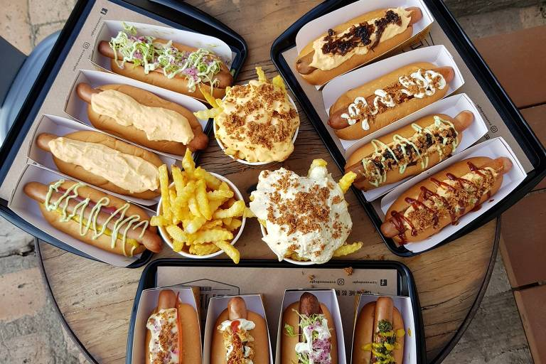 Hot dogs da Come On Dog, na Vila Mariana