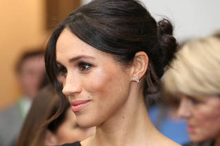 Meghan Markle attends the Women's Empowerment reception hosted by Foreign Secretary Boris Johnson during the Commonwealth Heads of Government Meeting at the Royal Aeronautical Society
