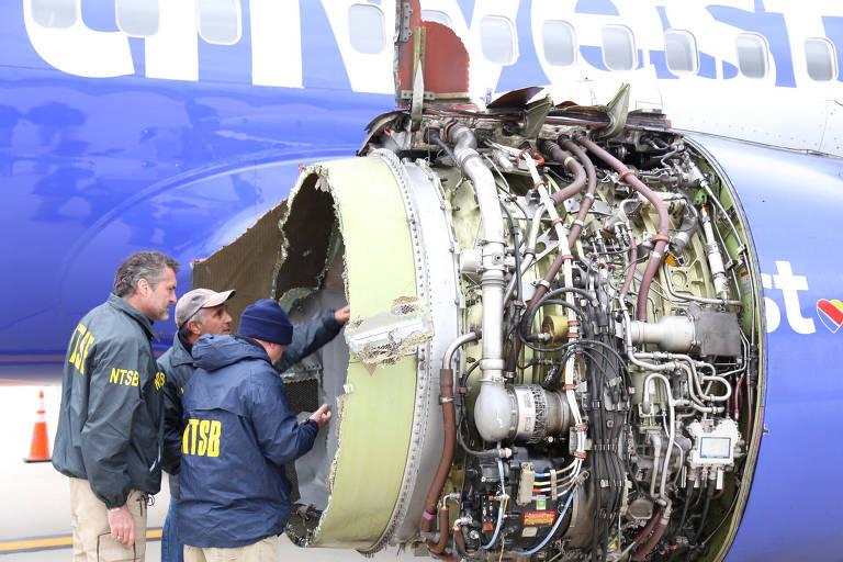 Acidente com avião da Southwest deixa 1 morto e 7 feridos