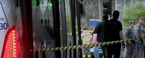 Assalto em ônibus termina em tiroteio e duas pessoas mortas no Jabaquara