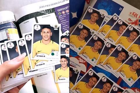 Bruna Marquezine posta álbum com figurinhas só de Neymar, seu namorado (Reprodução)