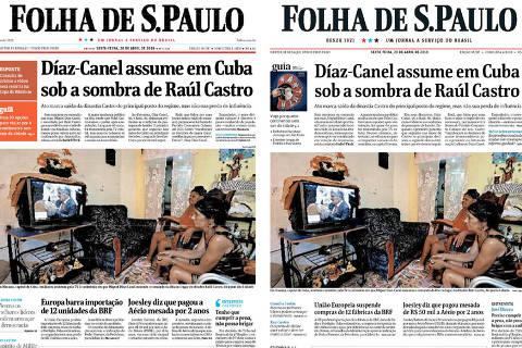 Folha conclui unificação visual em todas as plataformas com reforma da versão impressa