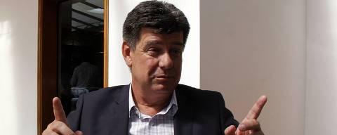 ASSUNÇÃO, 04-19-2018, 17:00: Efrain Alegre candidato à presidência. Ele fala em entrevista à Folha de São Paulo, com vistas às eleições. (Foto: Cesar Olmedo / Folhapress) *** FSP EXCLUSIVO ***