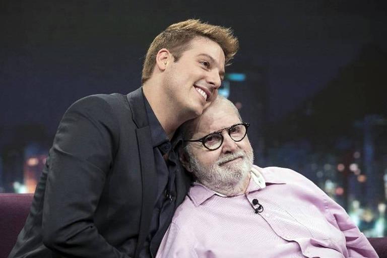 Porchat recebe o apresentador Jô Soares em seu talk show Programa do Porchat