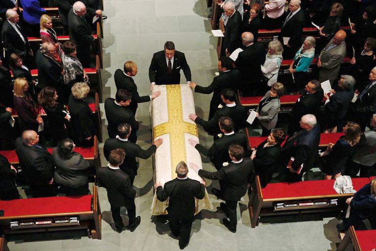 Velório da funeral da ex-primeira-dama Barbara Bush