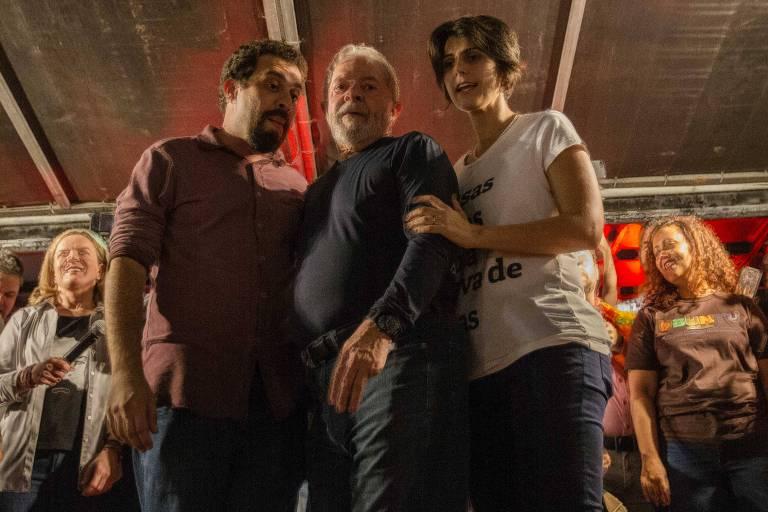 Ato com Lula, Guilherme Boulos e Manuela D'Ávila