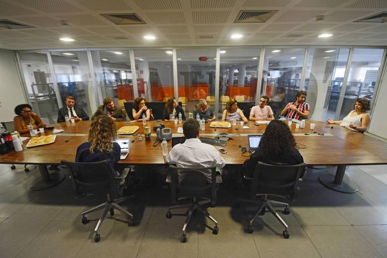 Encontro com eleitores de Lula na Redação da Folha