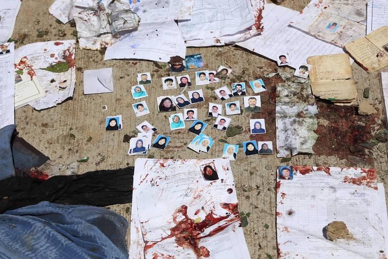 fotos manchadas de sangue