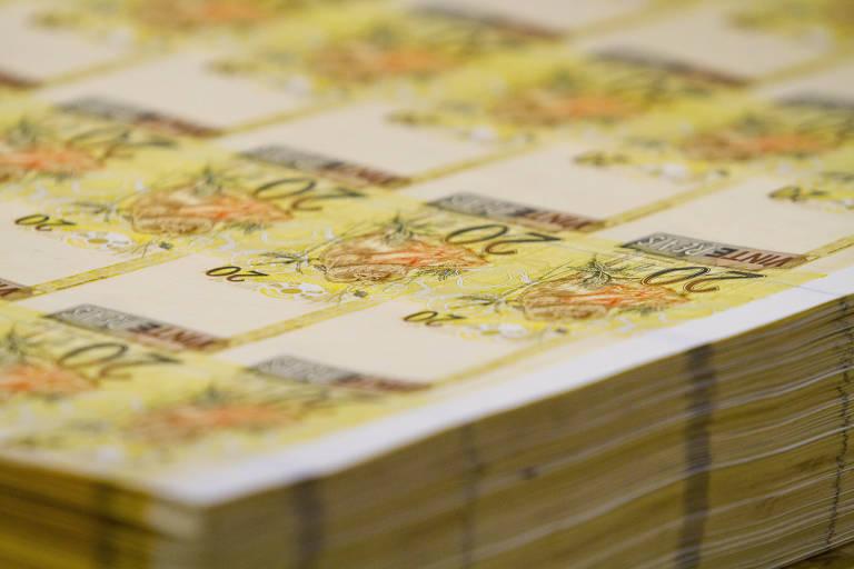 Notas de R$ 20 fabricadas na Casa da Moeda