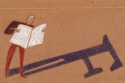 Ilustração coluna ombudsman sobre projeto gráfico