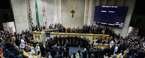 SÃO PAULO, SP, 01.01.2017: Cerimônia de posse do prefeito eleito de São Paulo João Dória. A cerimônia foi na Câmara dos Vereadores, região central da capital paulista (Foto: Alice Vergueiro/Folhapress)