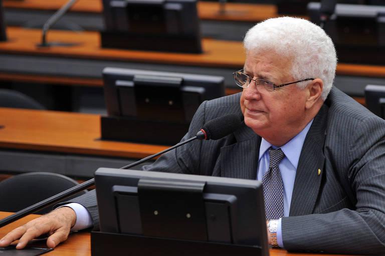 O deputado Nelson Meurer (PP-PR) no plenário da Câmara, em 2013