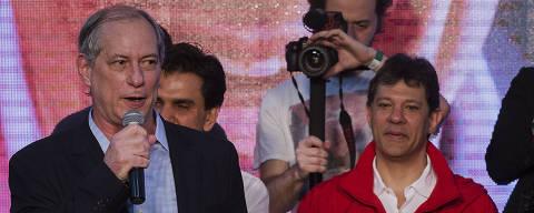 SAO PAULO, SP. 24/07/2016. O ex-ministro Ciro Gomes discursa na convenção do PT no Sindicato dos Bancários em São Paulo, para o lançamento da candidatura a reeleição a Prefeitura de São Paulo do prefeito Fernando Haddad.( Foto: Lalo de Almeida/Folhapress, PODER )