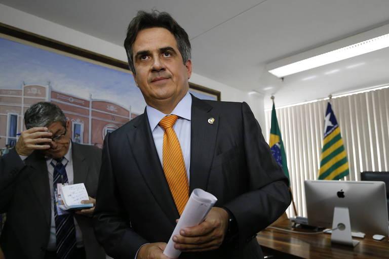 O senador Ciro Nogueira, presidente do PP, em seu gabinete em Brasília