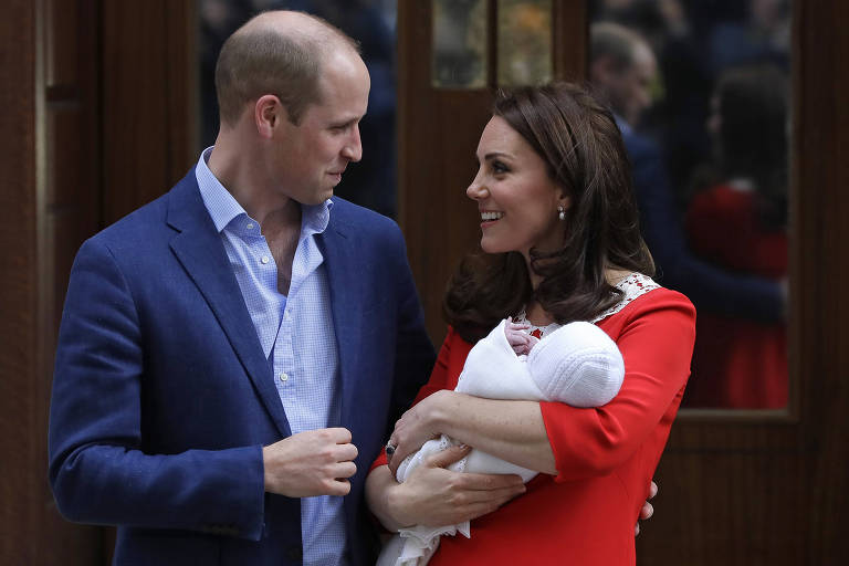 Kate e William com o novo bebê