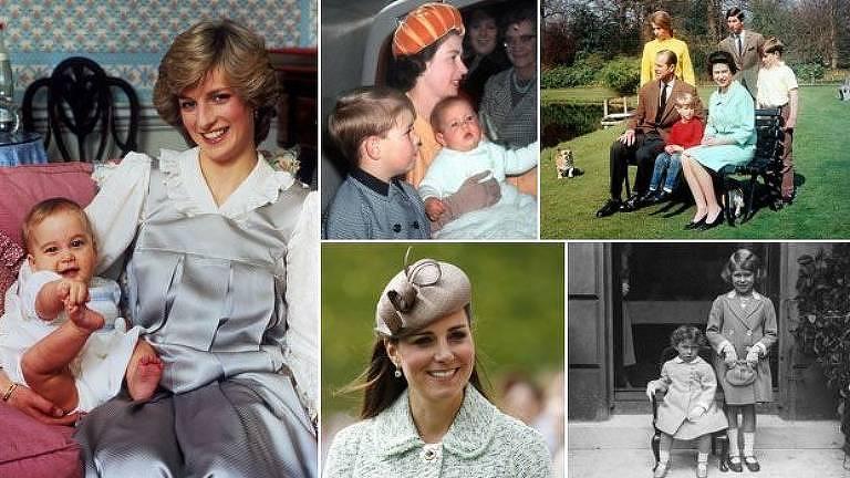 Ao longo do tempo, tradições e rigidez da realeza na criação dos filhos foram mudando