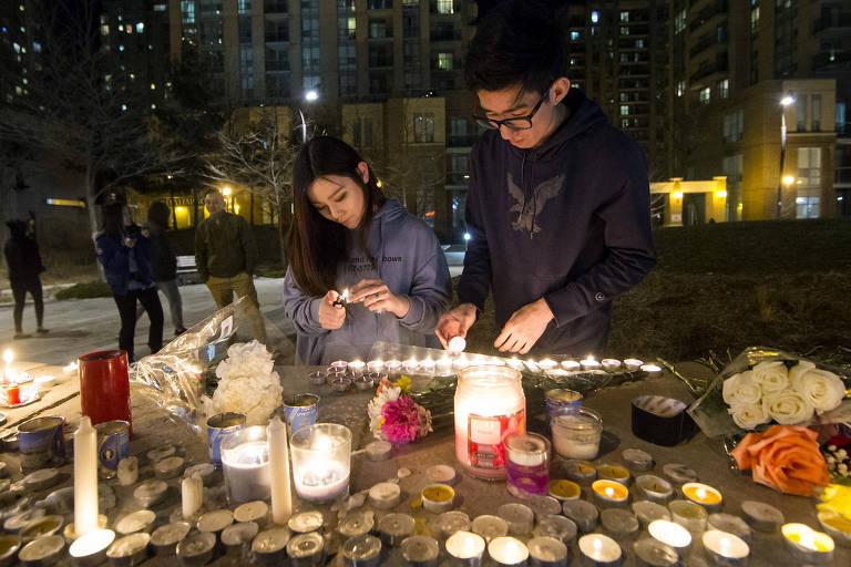Homenagem aos dez mortos após ataque com van em Toronto, no Canadá