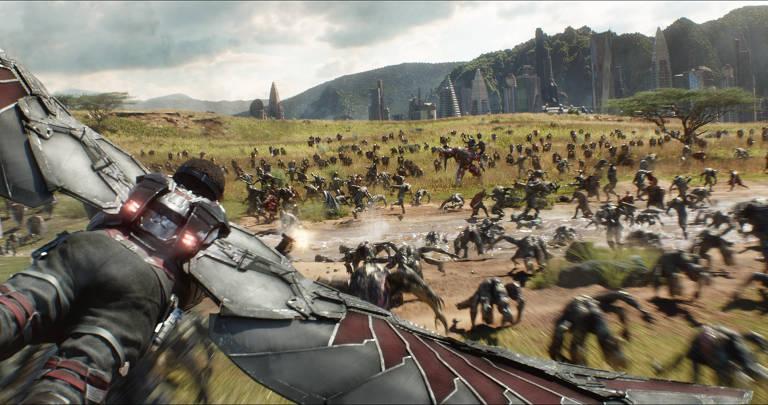 Cena do filme Vingadores Guerra Infinita